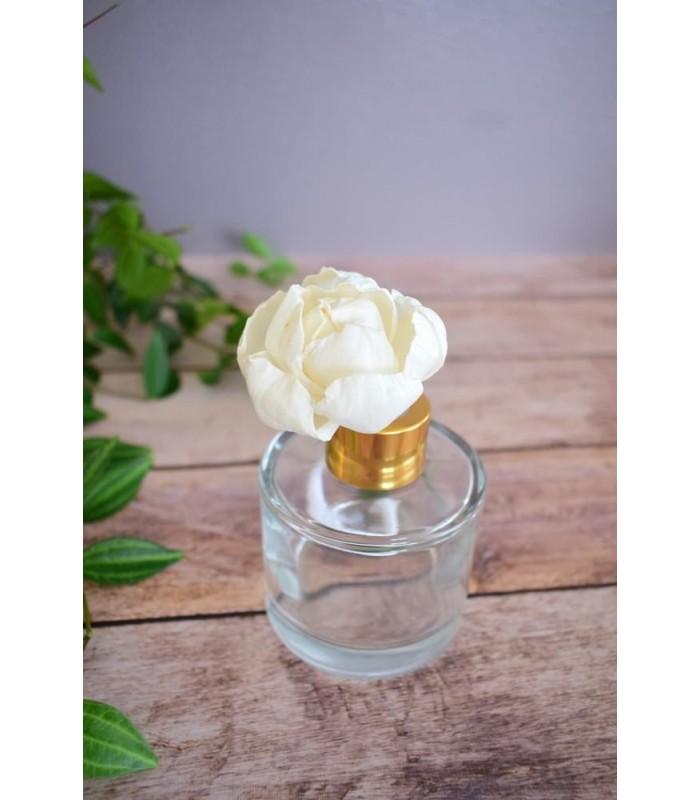 Fleur en bois de sola - Pivoine (petite)