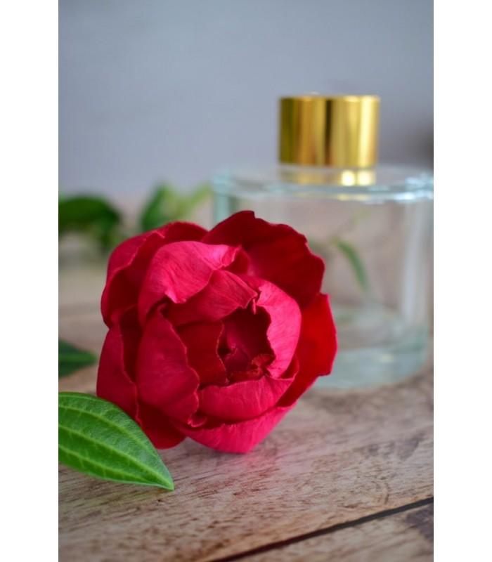 Fleur en bois de sola - Pivoine rouge