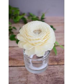 Fleur en bois de sola - Zinnia