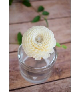 Fleur en bois de sola - Zinnia (petite)