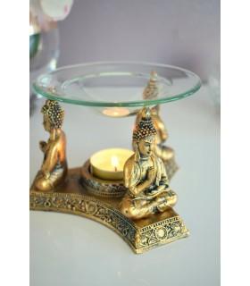 Brûle parfum Bouddhas doré antique