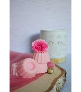 Fondant en cire parfumée Rose et litchi pour la maison